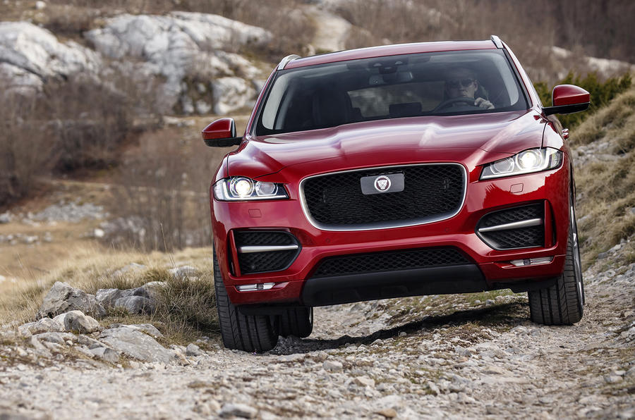 Off-roading in the Jaguar F-Pace