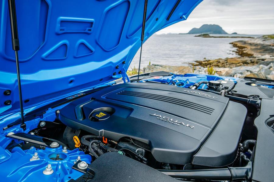 Jaguar F-Type engine bay