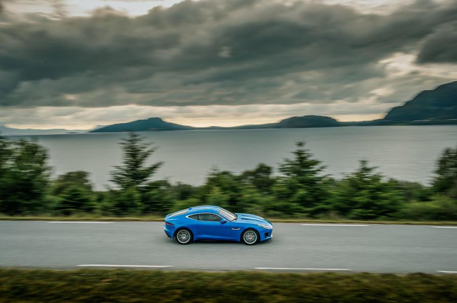 Jaguar F-Type on the road
