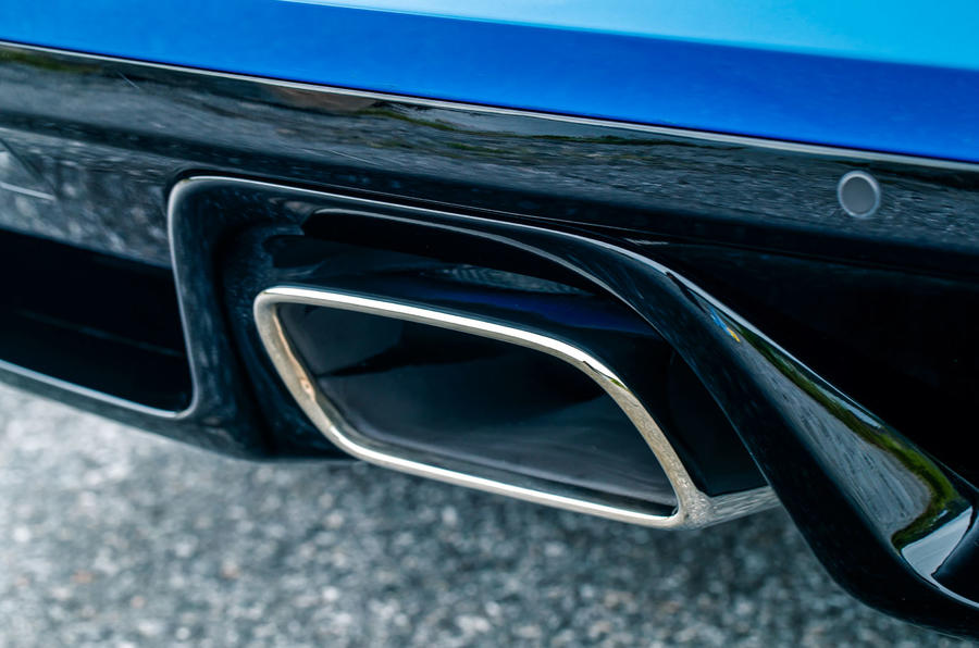 Jaguar F-Type exhaust system