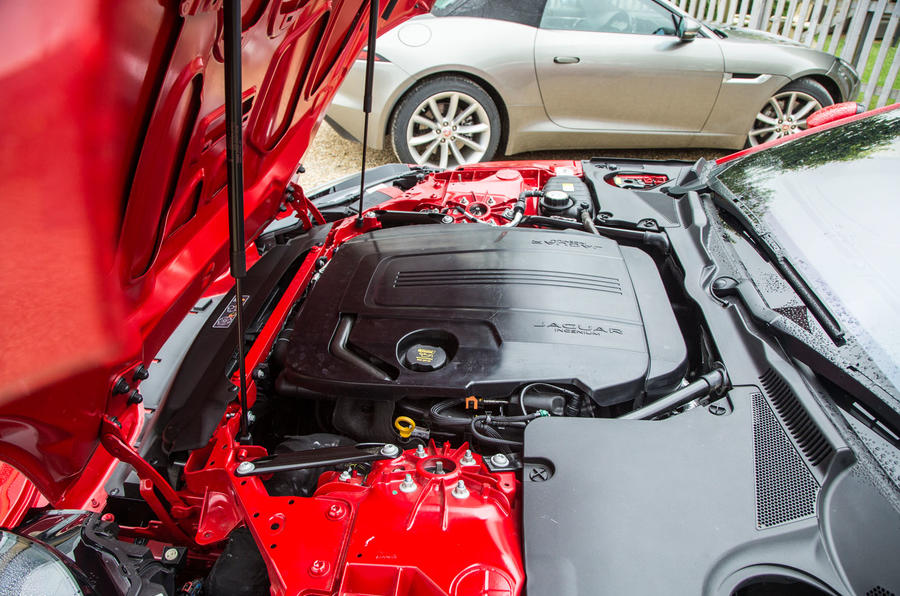 Four-cylinder Jaguar F-Type