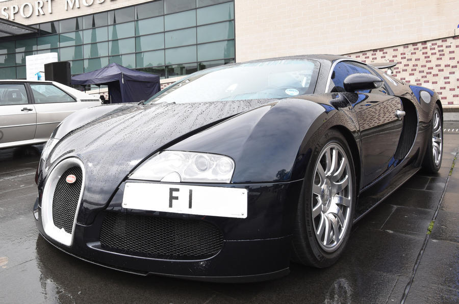Bugatti Chiron F1 personalised numberplate