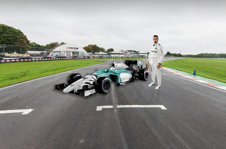 Lewis Hamilton F1 Castle Combe