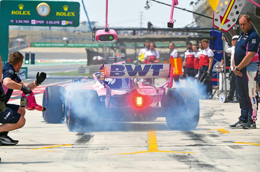 Formula One pit lane