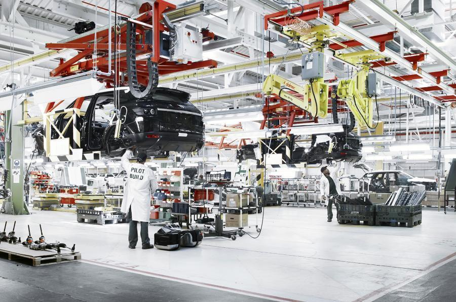 Range Rover Evoque production line