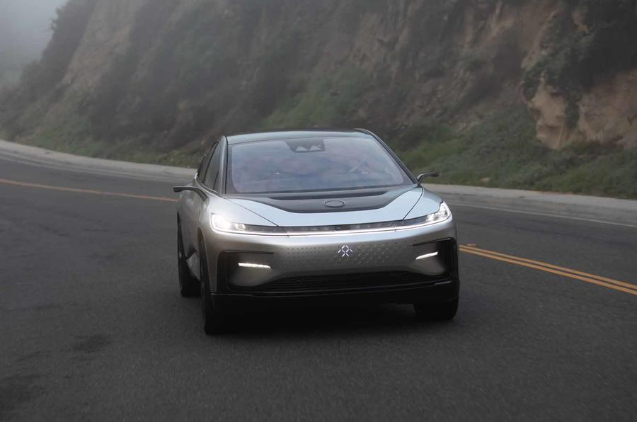 Faraday Future FF91 front tracking
