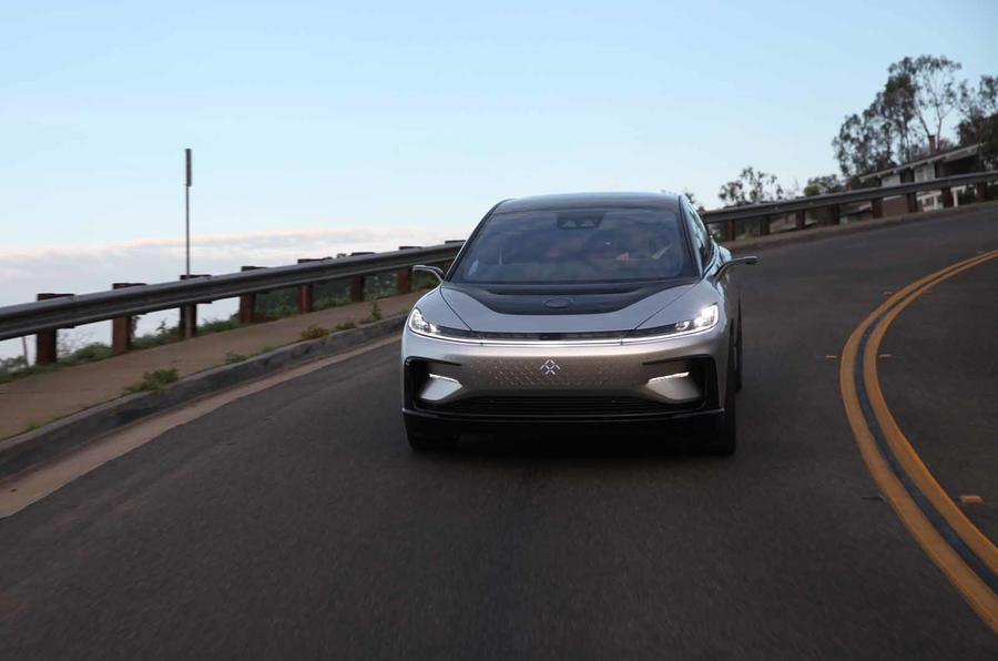 Faraday Future FF91 front lighter