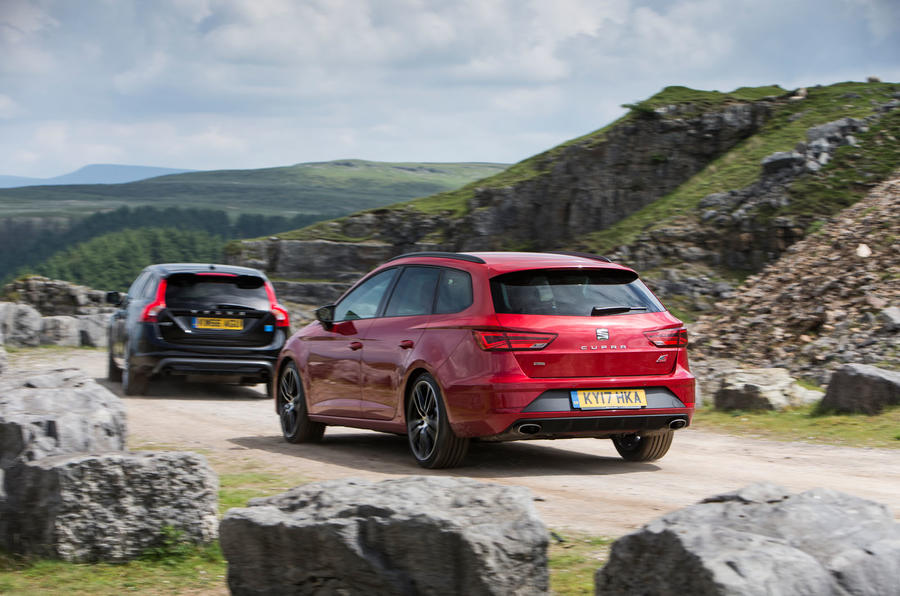 Skoda Octavia vRS estate vs. Seat Leon ST Cupra vs. Volvo V60 AWD Polestar - fast estate triple test