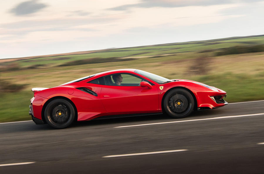 Ferrari 488 Pista 2018 UK first drive review - hero side