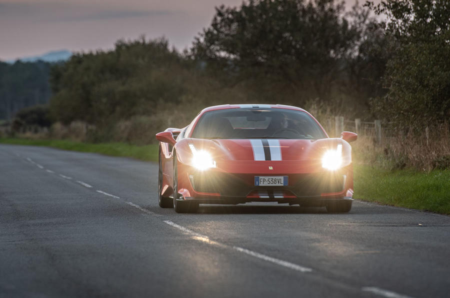 Ferrari 488 Pista 2018 UK first drive review - otr front