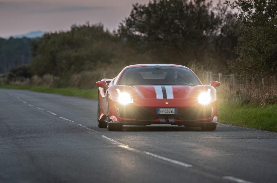 Ferrari 488 Pista 2018 UK first drive review - otr front