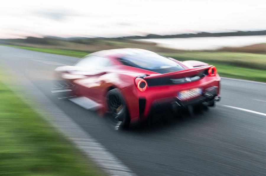 Ferrari 488 Pista 2018 UK first drive review - otr rear