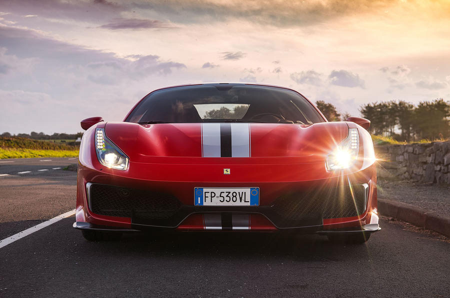 Ferrari 488 Pista 2018 UK first drive review - nose