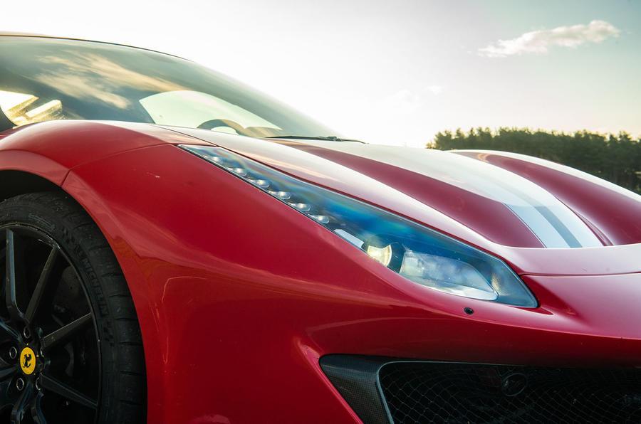 Ferrari 488 Pista 2018 UK first drive review - headlights