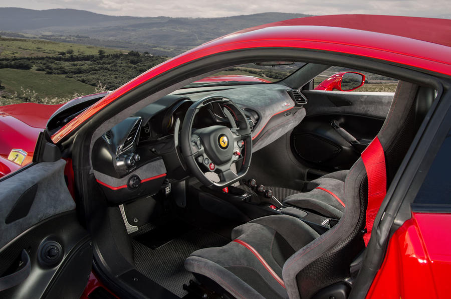 Ferrari 488 Pista 2018 UK first drive review - cabin