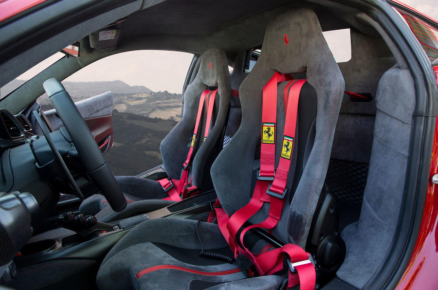 Ferrari 488 Pista 2018 UK first drive review - seats