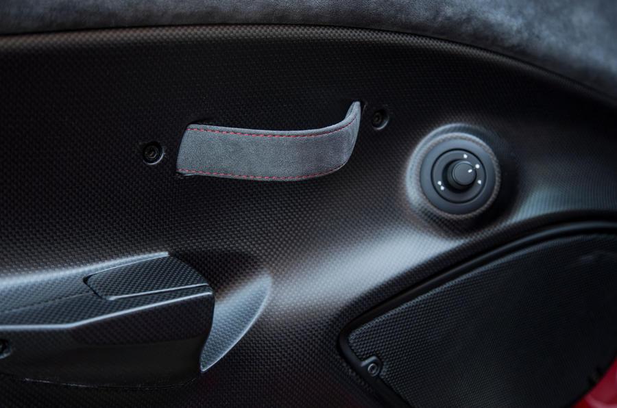 Ferrari 488 Pista 2018 UK first drive review - door handles