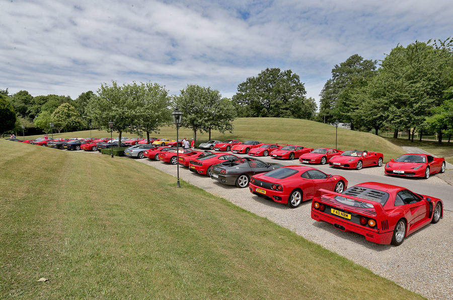 Ferrari Owners' Club car park