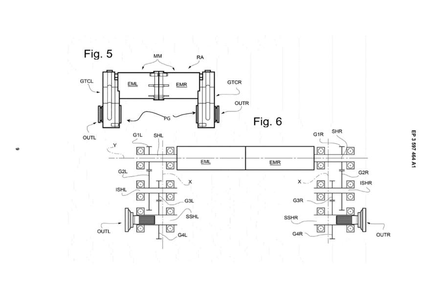 2025 Ferrari EV patent sketch