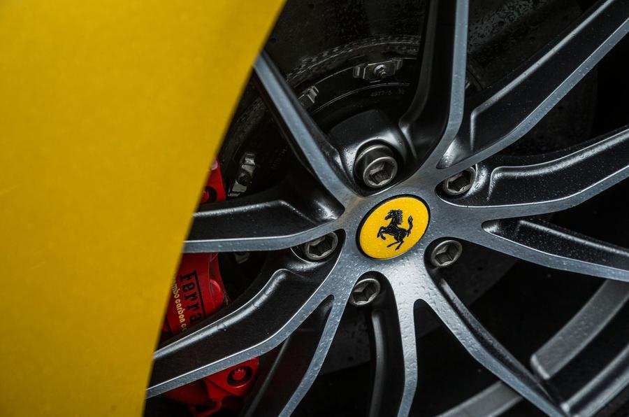 Driving the Ferrari F12 tdf on wet Welsh mountain roads