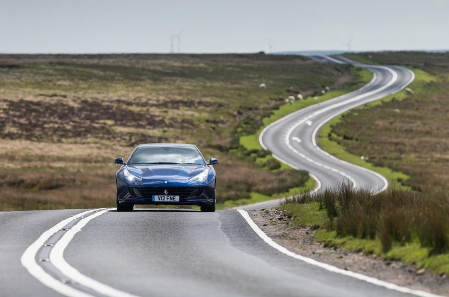 Ferrari GTC4 Lusso on the road