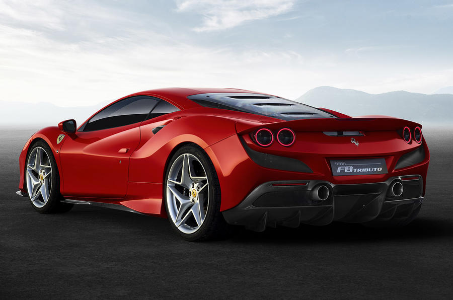 Ferrari F8 Tributo official press - hero rear