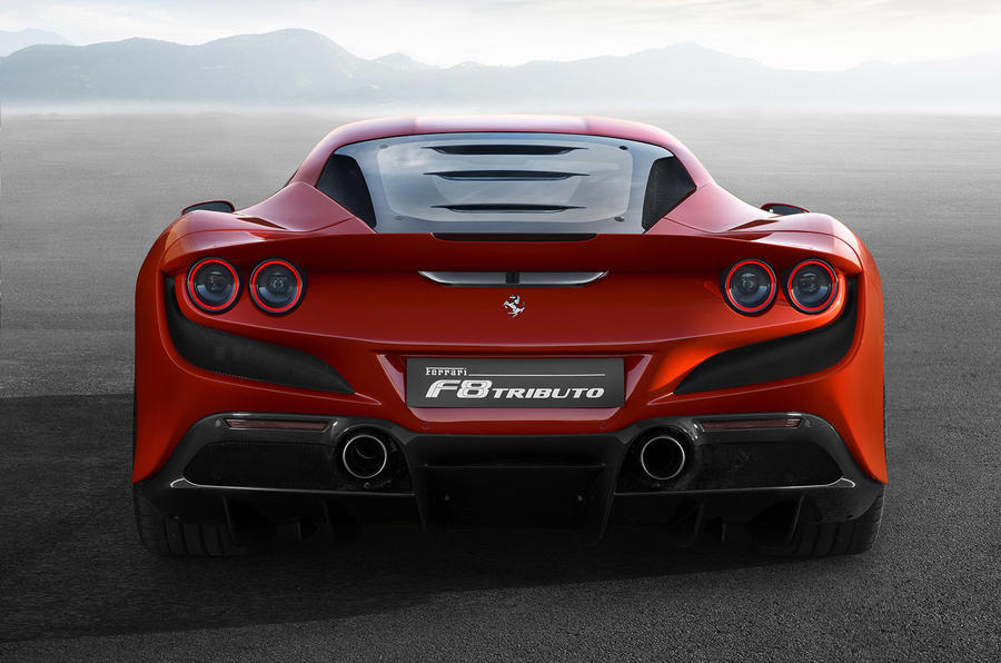 Ferrari F8 Tributo official press - rear