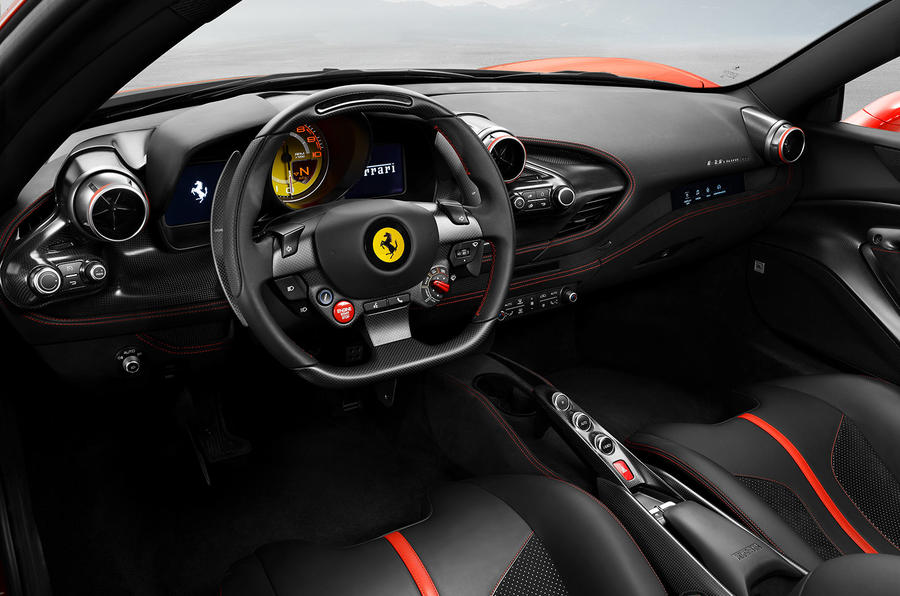 Ferrari F8 Tributo official press - interior