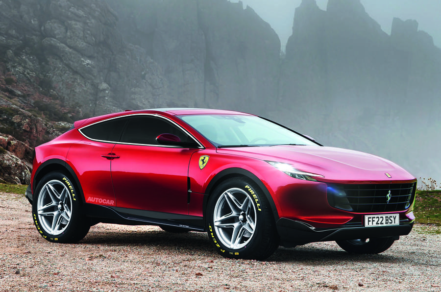 Ferrari 'Purosangue' SUV, as imagined by Autocar