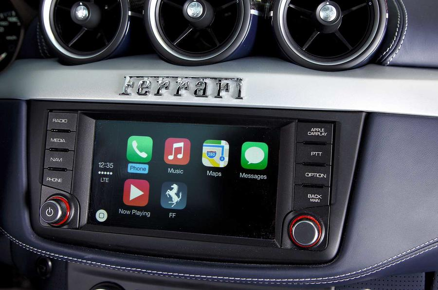 Ferrari with Apple Carplay