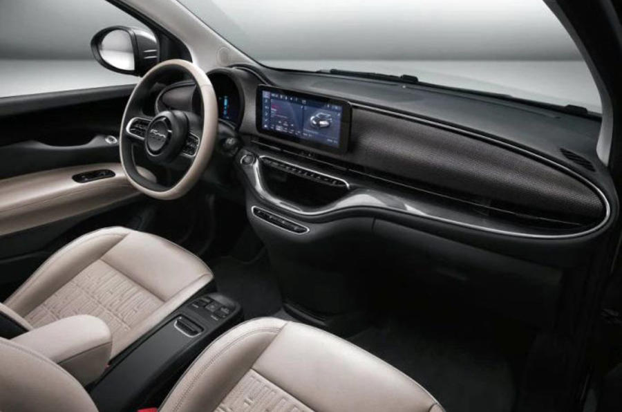 Fiat 500e 2020 leaked images - cabin