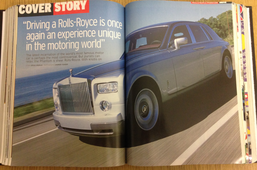 2003 Autocar magazine - first drive of the Rolls-Royce Phantom VIII