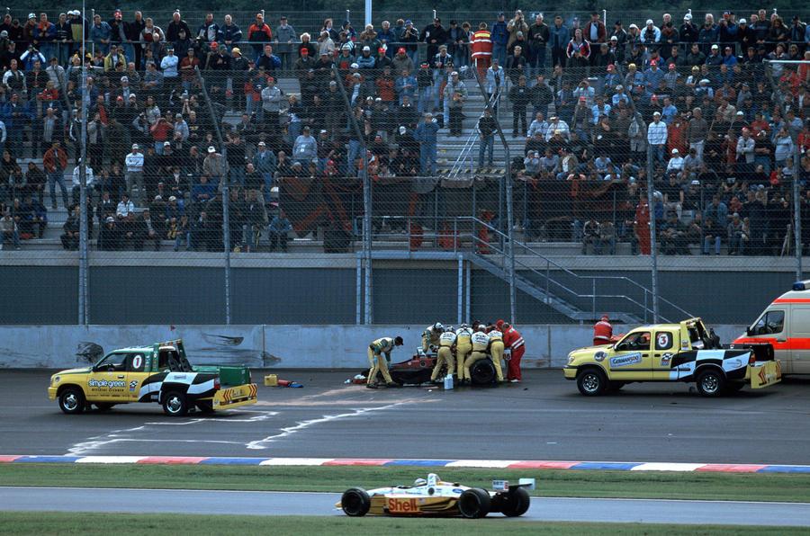 Alex Zanardi crash in 2001