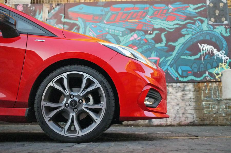 Ford Fiesta ST-Line 2018 long-term review alloys graffiti