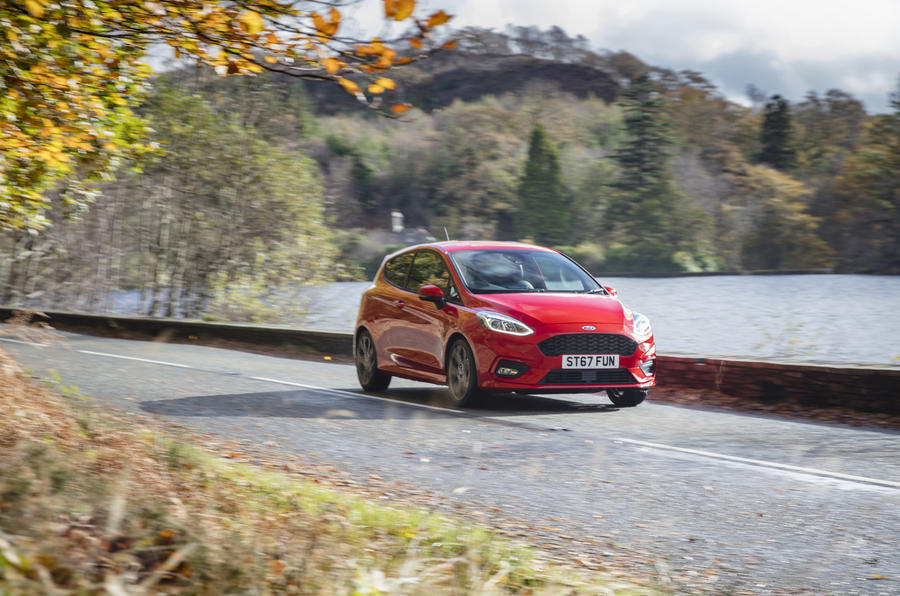 Ford Fiesta ST-Line X front on the road