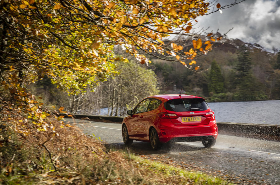 Ford Fiesta ST-Line X rear on the road