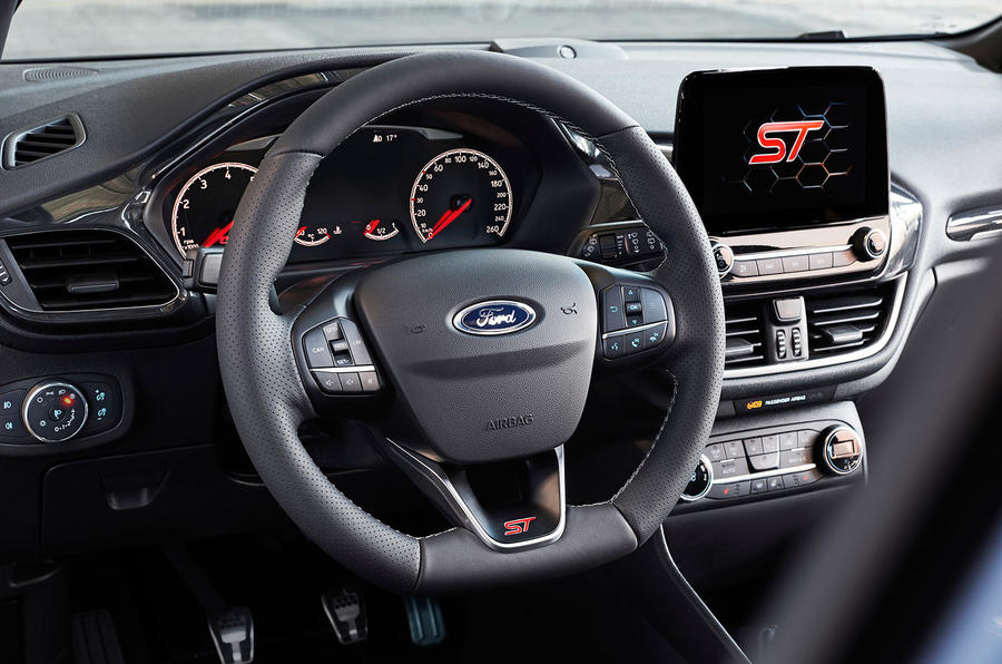 2017 Ford Fiesta ST steering wheel