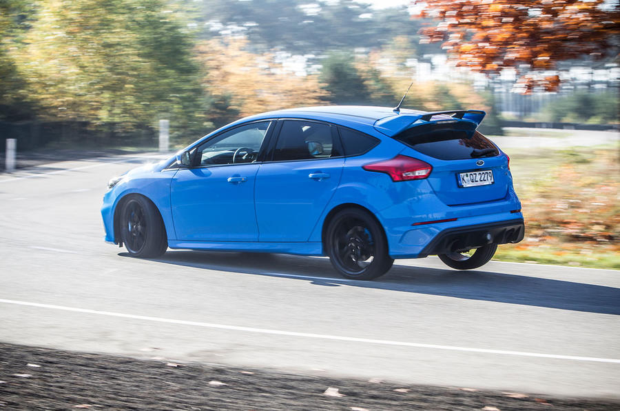 Ford Focus RS hard cornering