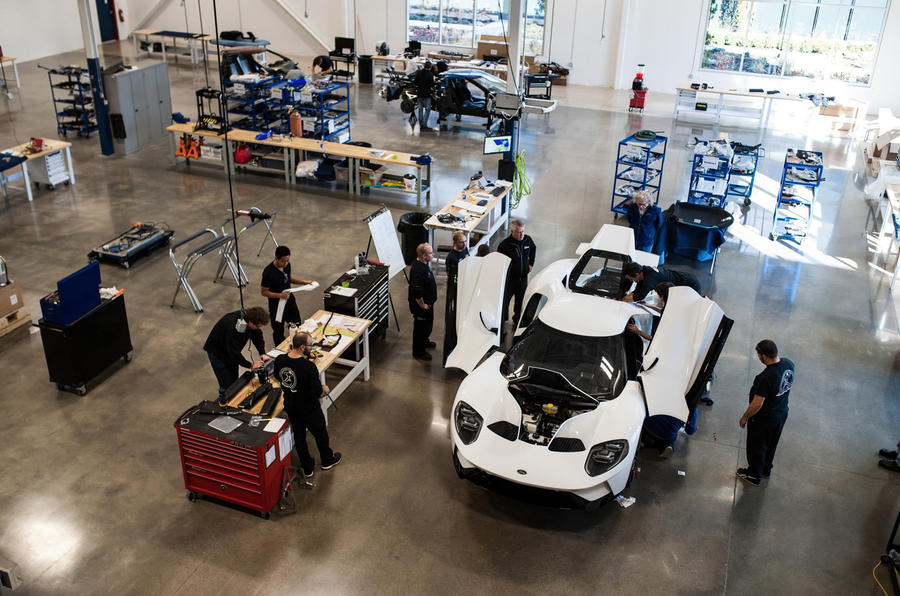 First Ford Gt Customer Car Rolls Off Production Line Live Video