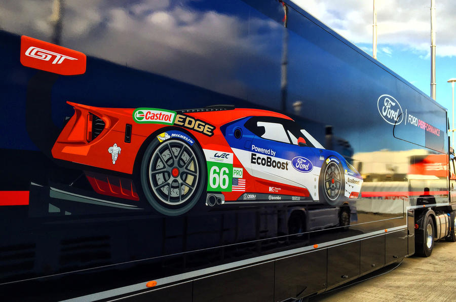 Ford GT lorry WEC
