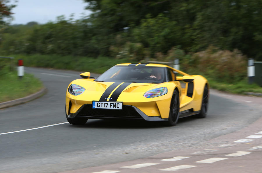 Ford GT cornering