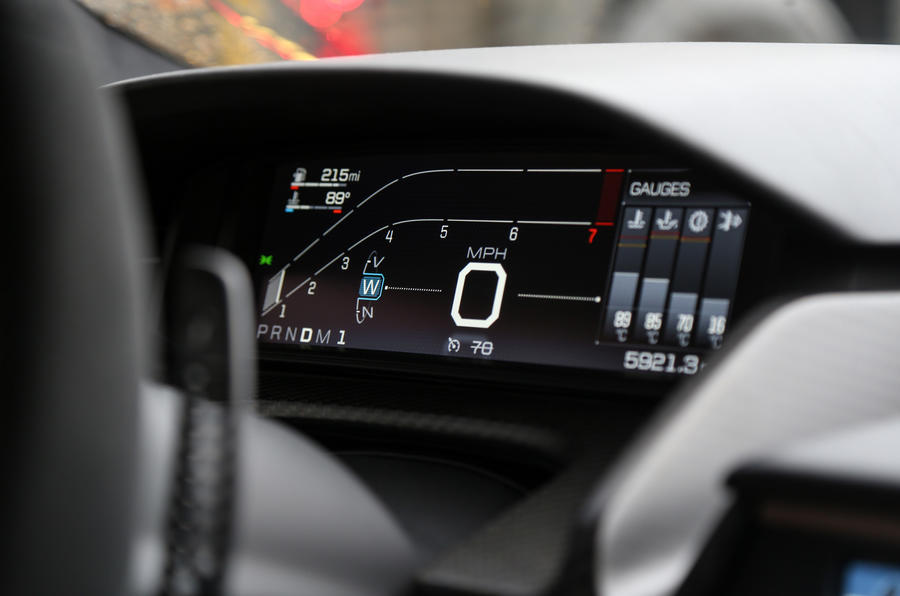 Ford GT digital instrument cluster