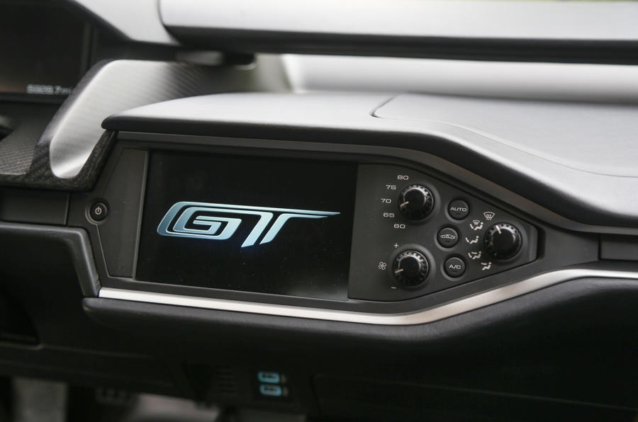 Ford GT infotainment system