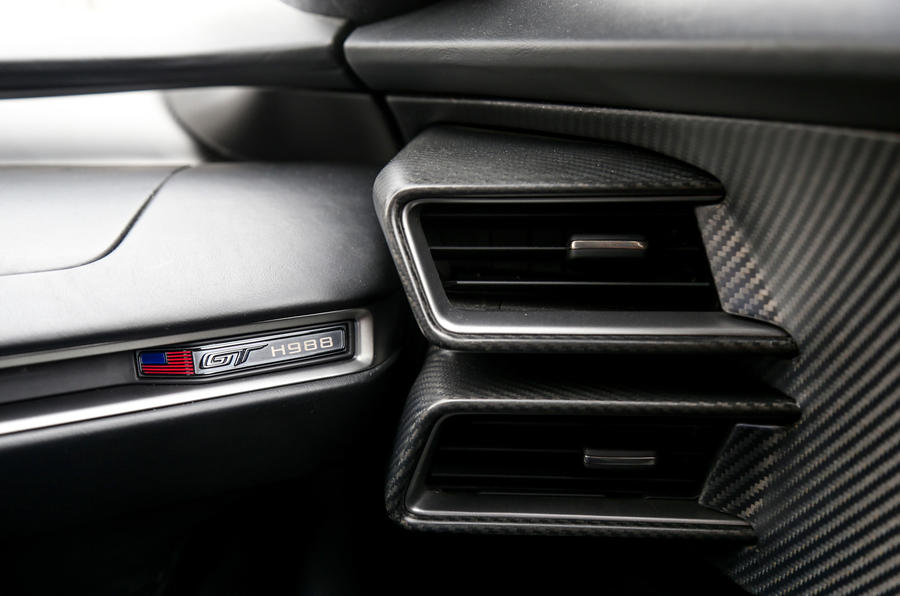 Ford GT interior badging