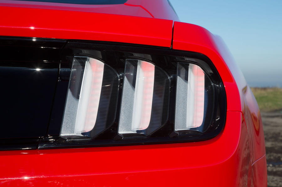 Three-striped Ford Mustang tailights