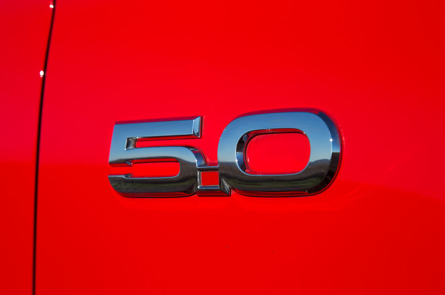 Ford Mustang 5.0-litre badging