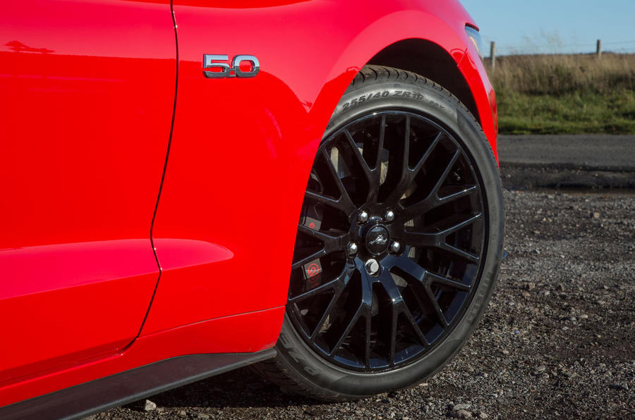 19in Ford Mustang black alloys