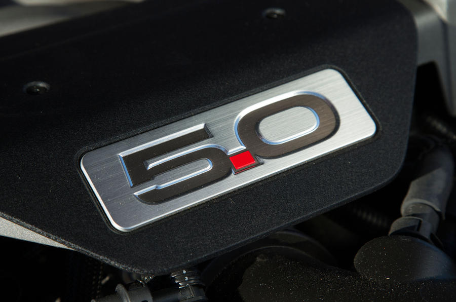 5.0-litre Ford Mustang engine badge