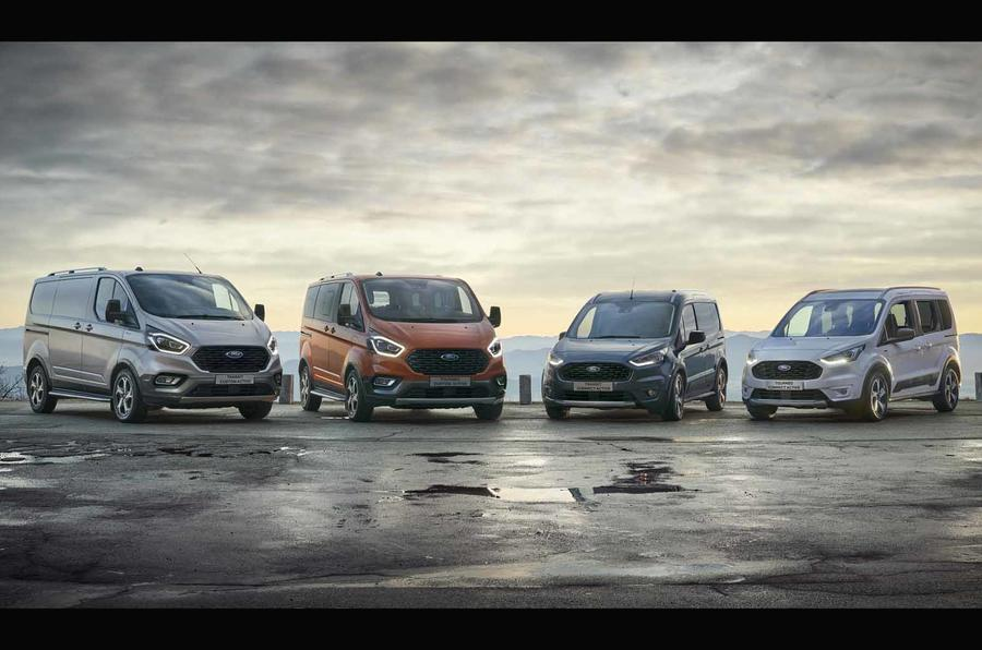 Ford Transit/Tourneo Active range