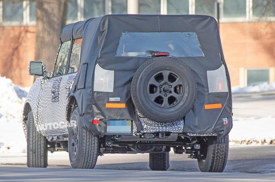Ford Bronco 2020 spy photos - rear